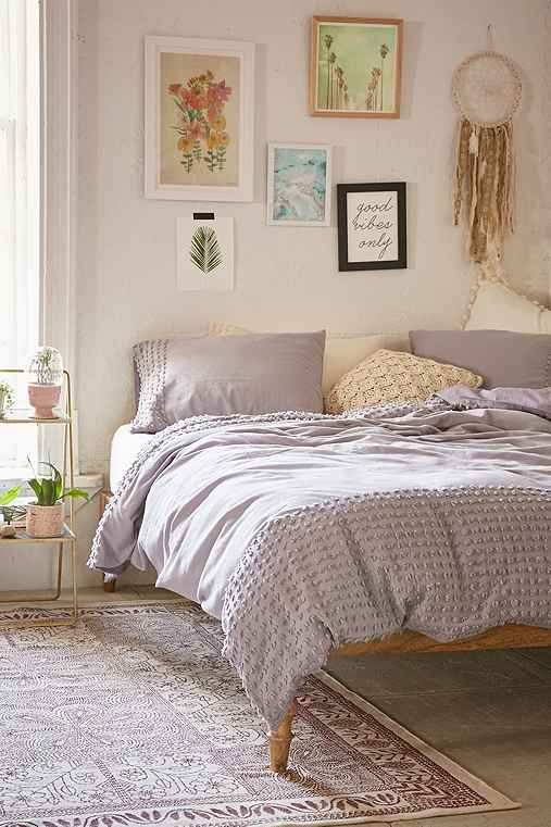 Plum Amp Bow Tufted Dot Duvet Cover Urban Outfitters