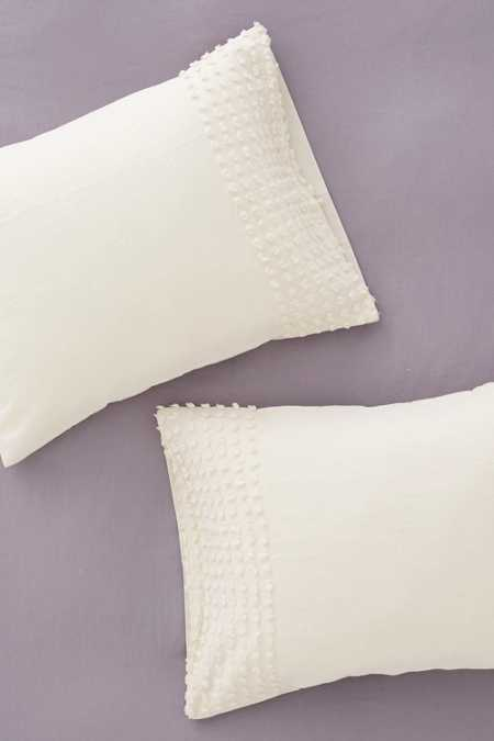 Plum & Bow Tufted Dot Sham Set