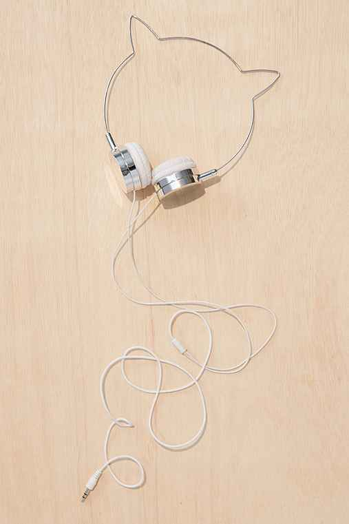 Cat Headphones,SILVER,ONE SIZE