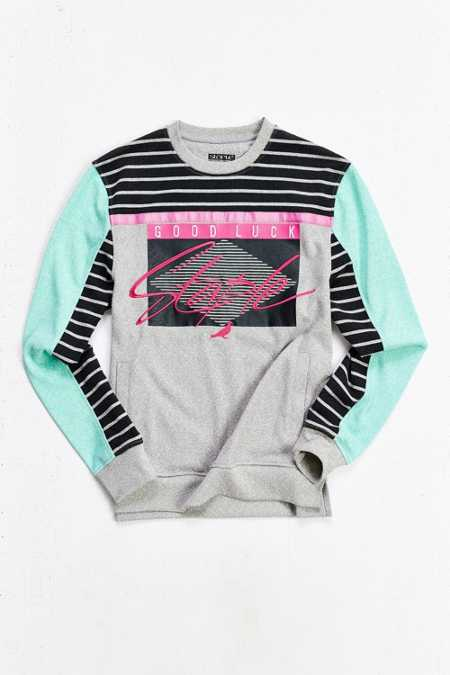 Staple Deco Block Crew-Neck Sweatshirt
