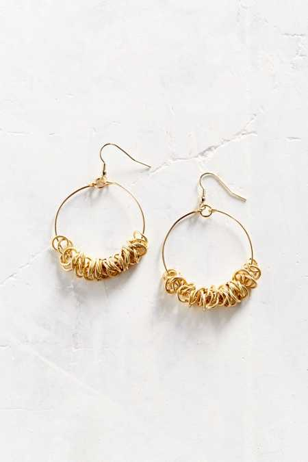 Ringed Out Hoop Earring