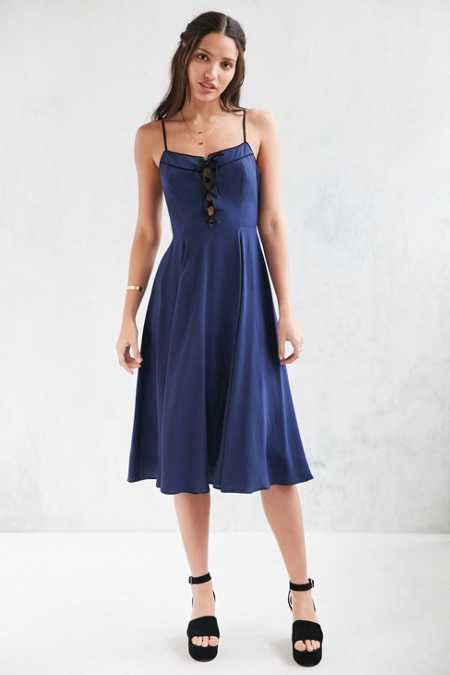 Cooperative Georgia May Lace-Up Dress