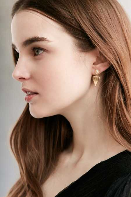 Sunray Ear Jacket Earring