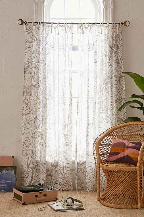 Plum & Bow Edna Palm Curtain,CREAM,52X84