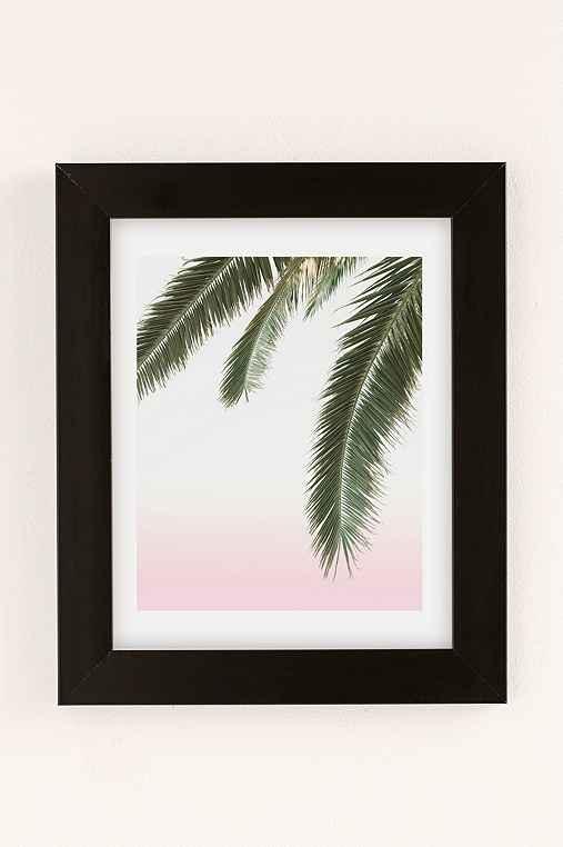 Wilder California Hanging Palm Art Print,BLACK MATTE FRAME,30X40