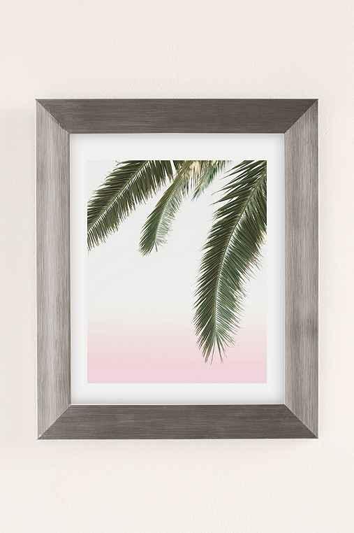 Wilder California Hanging Palm Art Print,SILVER MATTE FRAME,18X24