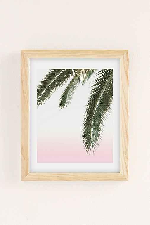 Wilder California Hanging Palm Art Print,NATURAL WOOD FRAME,8X10