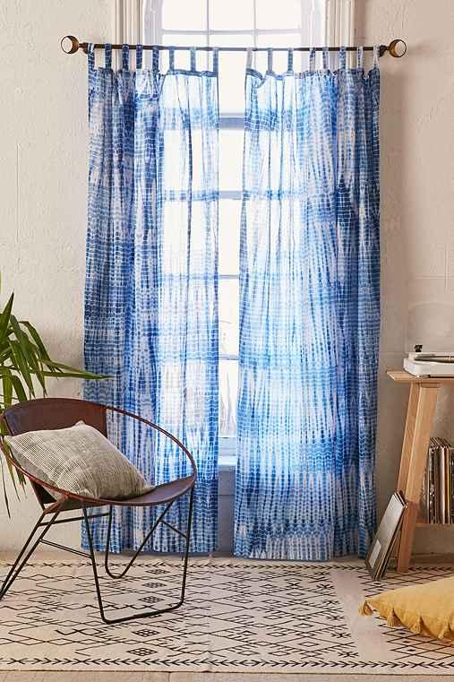Magical Thinking Dye Streak Curtain,BLUE,52X84