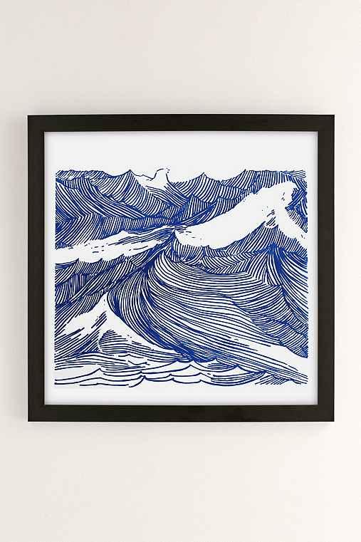 Kym Fulmer Crashing Waves Art Print,BLACK MATTE FRAME,16X16