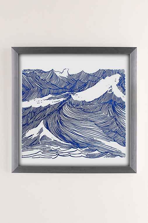 Kym Fulmer Crashing Waves Art Print,SILVER MATTE FRAME,12X12