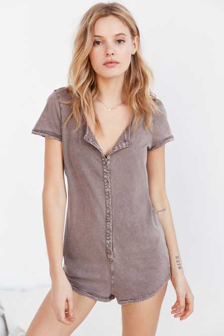 Out From Under Boyfriend Tee Romper