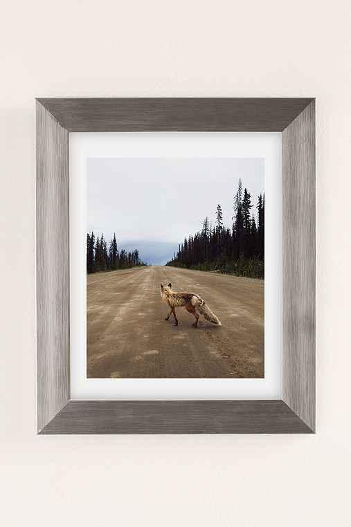 Kevin Russ Road Fox Art Print,SILVER MATTE FRAME,8X10