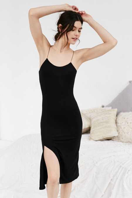 Out From Under Fine Straps Midi Slip Dress