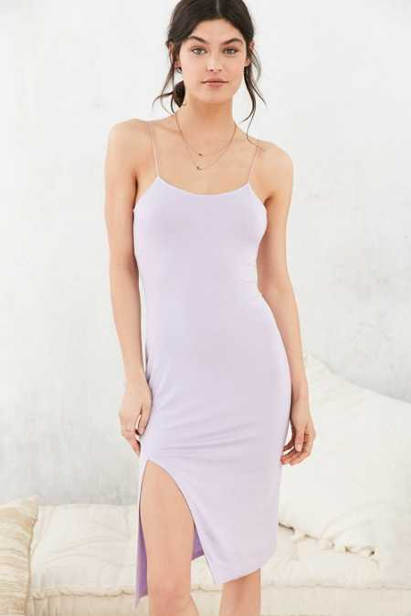 Out From Under Fine Straps Midi Slip