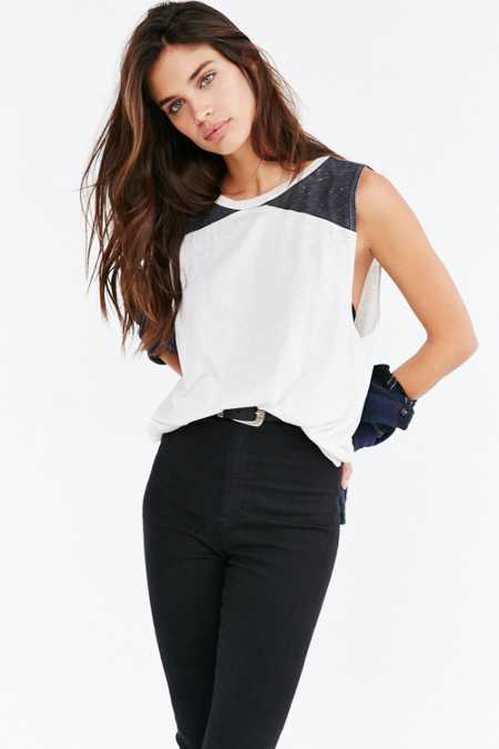 Mouchette Colorblock Muscle Tee