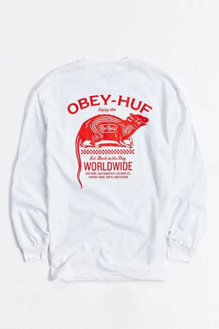 OBEY X HUF Rat Race Long-Sleeve Tee