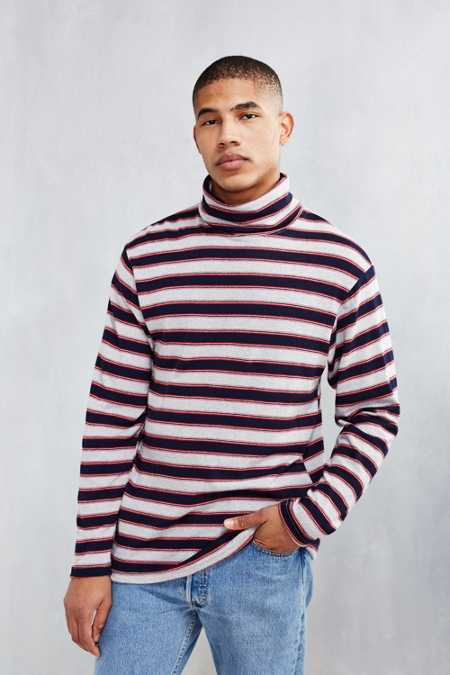 BDG Stripe Turtleneck Shirt