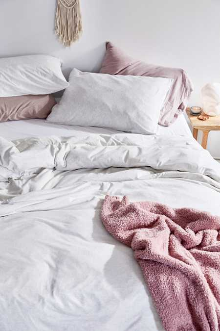 Heathered Jersey Duvet Cover