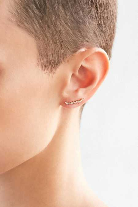 Tiny Love Rhinestone Ear Climber Earring