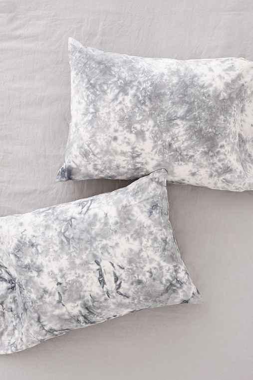 Magical Thinking Miura Soft Dye Pillowcase Set,GREY,ONE SIZE