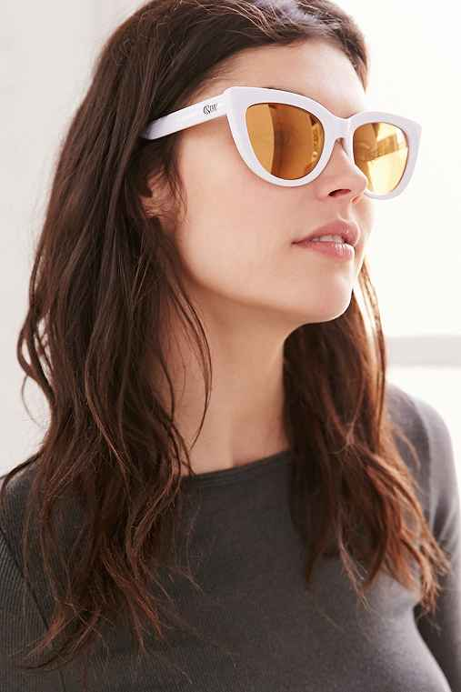 Quay Rhymes Sunglasses,WHITE,ONE SIZE