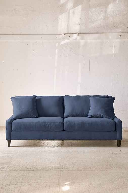 Collins Microfiber Sofa,NAVY,ONE SIZE