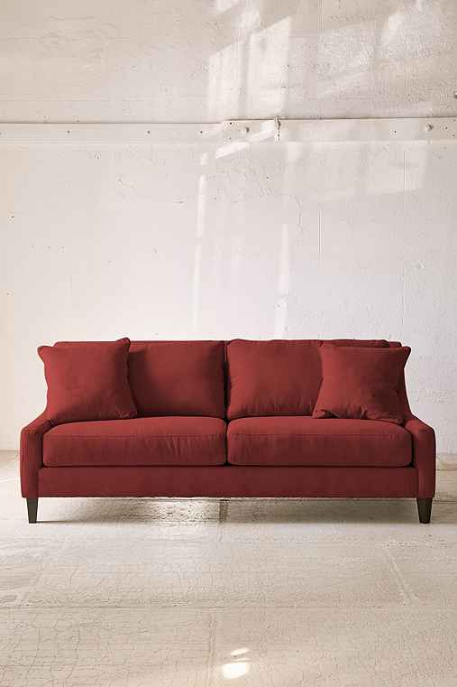 Collins Microfiber Sofa,RED,ONE SIZE