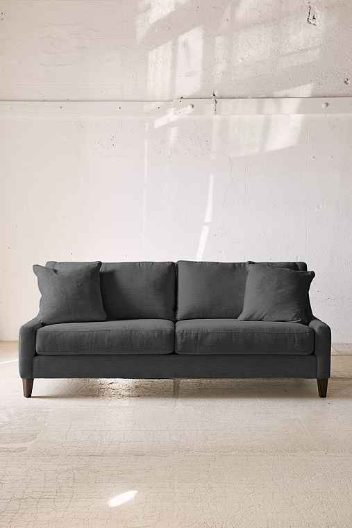 Collins Marled Chenille Sofa,BLACK,ONE SIZE