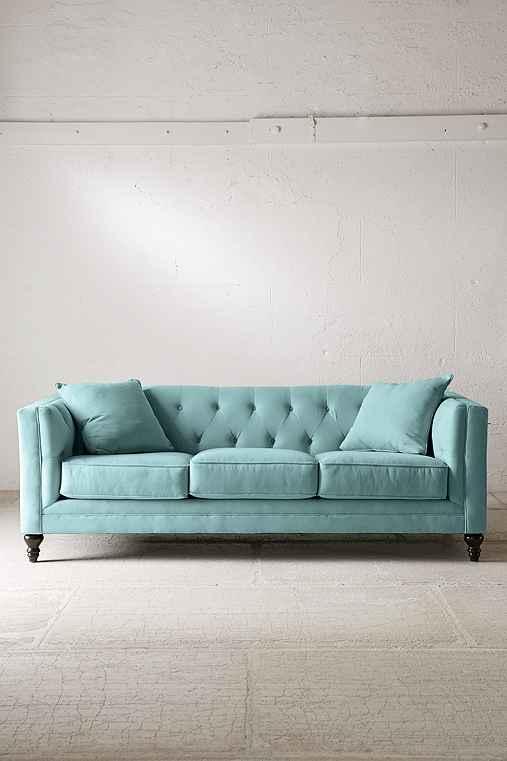 Graham Microfiber Sofa,GREEN,ONE SIZE