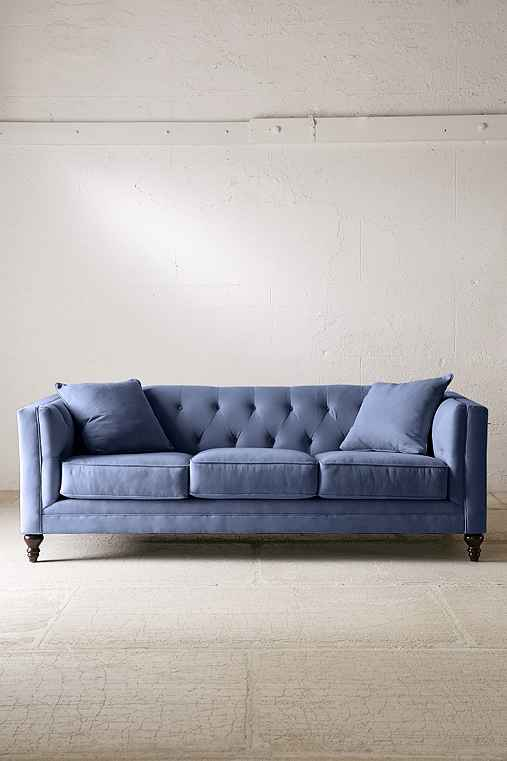 Graham Microfiber Sofa,NAVY,ONE SIZE