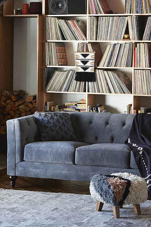 Graham Velvet Sofa,DARK BLUE,ONE SIZE