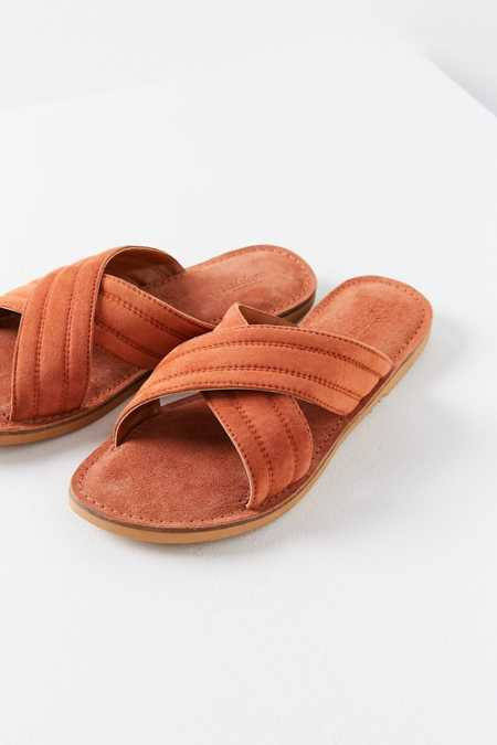 Sadie Suede Cross Strap Slide