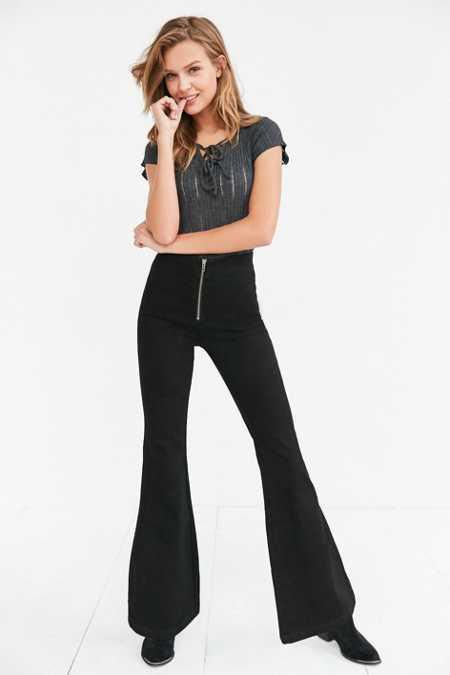 BDG Morrison Zip-Front High-Rise Flare Jean