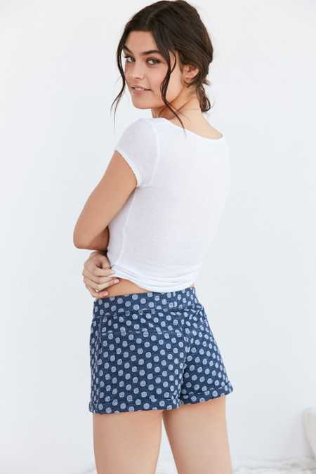 Out From Under Indigo Polka Dot Short