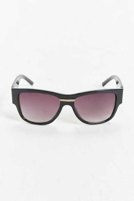 Flat Top Metal Accent Sunglasses