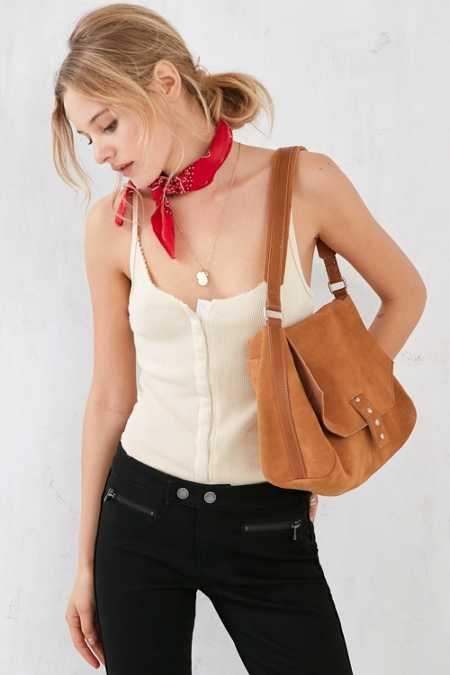Ecote Suede Messenger Shoulder Bag