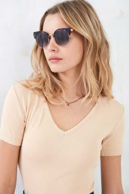 Goldendaze Round Cat-Eye Sunglasses
