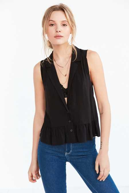 Cooperative Natalie Plunge-Front Ruffle Tank