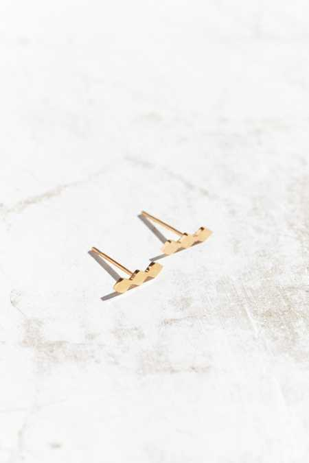 Seoul Little 24k Gold Plated Square Post Earring