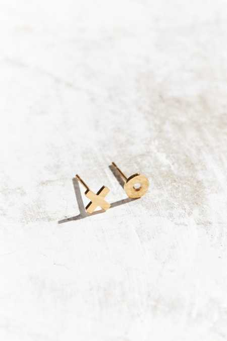 Seoul Little 24k Gold Plated XO Post Earring