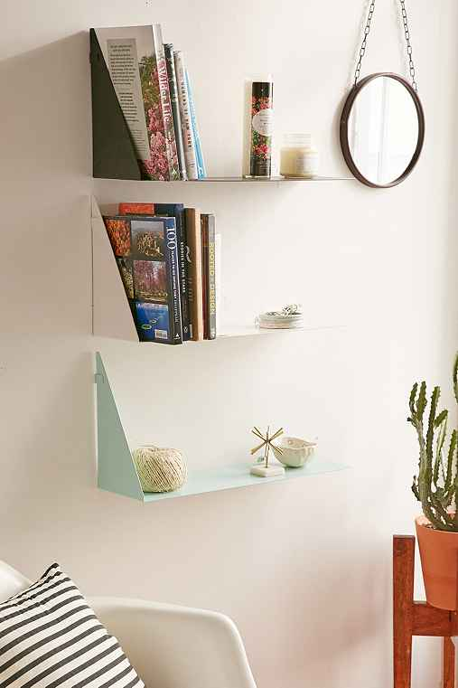 Bent Metal Shelf,BLACK,ONE SIZE