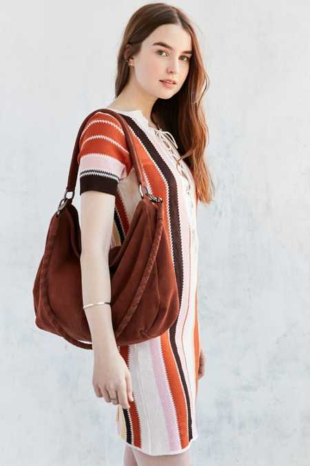 Ecote Kelly Suede Braid Shoulder Bag