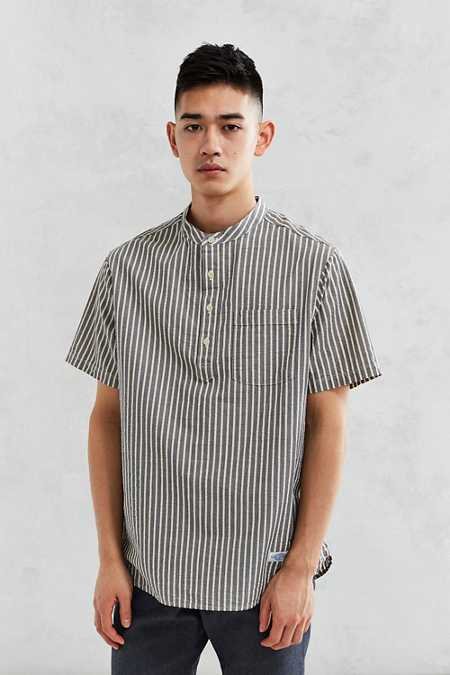 CPO Seersucker Band Collar Popover Shirt