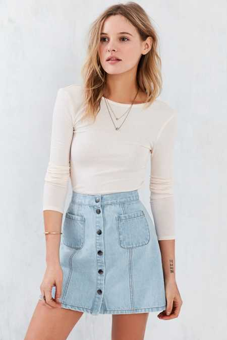 Kimchi Blue Darcey Cropped Top