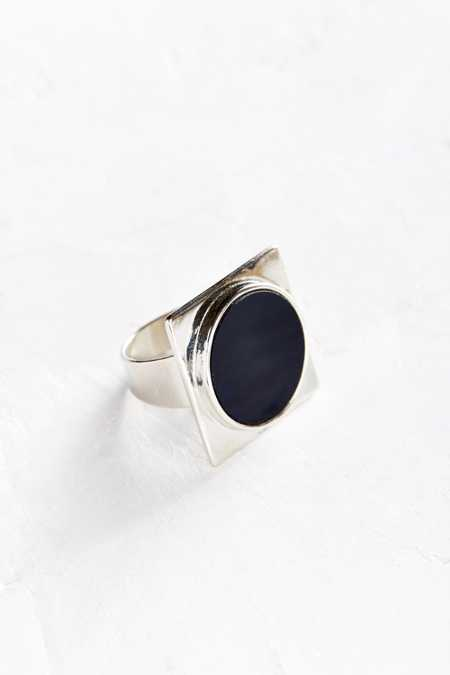 Geo Face Statement Ring