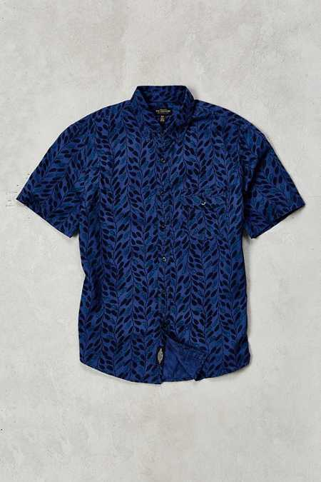CPO Woodblock Leaves Short-Sleeve Button-Down Shirt