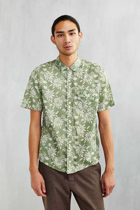 CPO Hawaiian Floral Short-Sleeve Button-Down Shirt