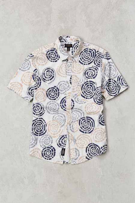 CPO Maze Print Short-Sleeve Button-Down Shirt