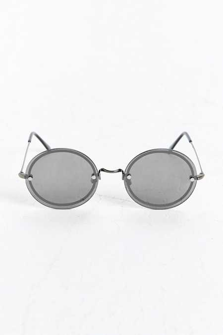 Plastic Edged Round Sunglasses