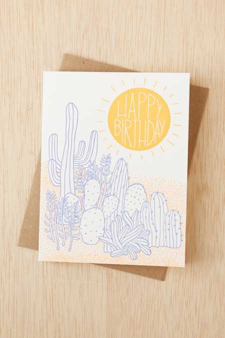 The Good Twin Co. Desert Birthday Card